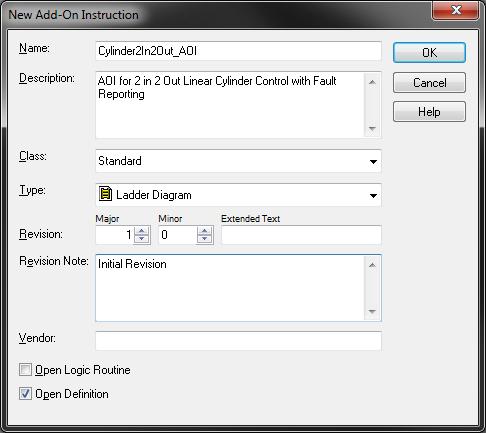 New AOI Configuration