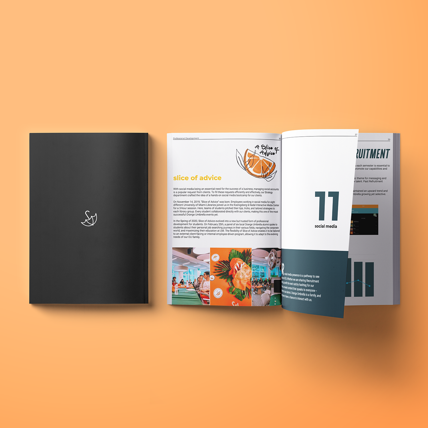 A mockup of our annual report.