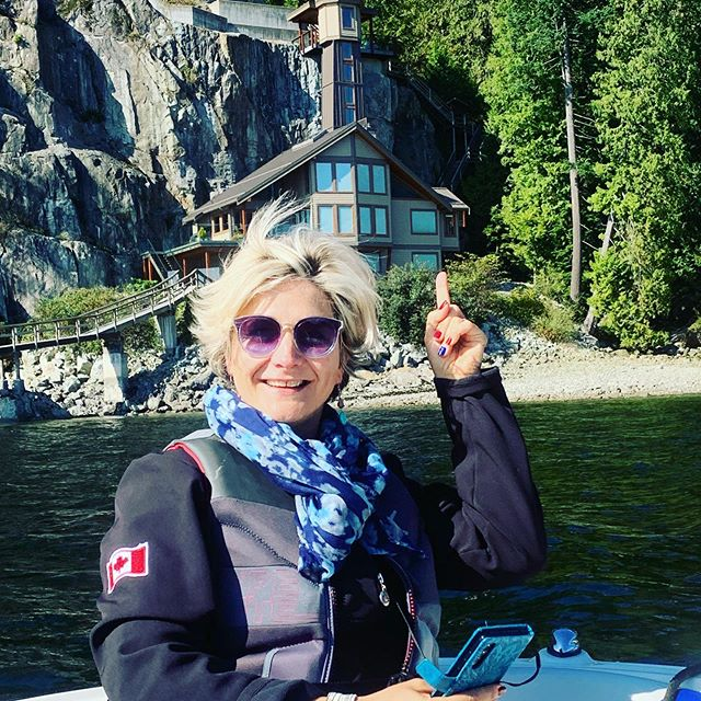 Indian Arm Boat Charters had a great day entertaining Vicki and her daughters on a professional development day. Vicki has a soft spot for lighthouses, so we made sure to get her a photo in front of the lighthouse elevator.