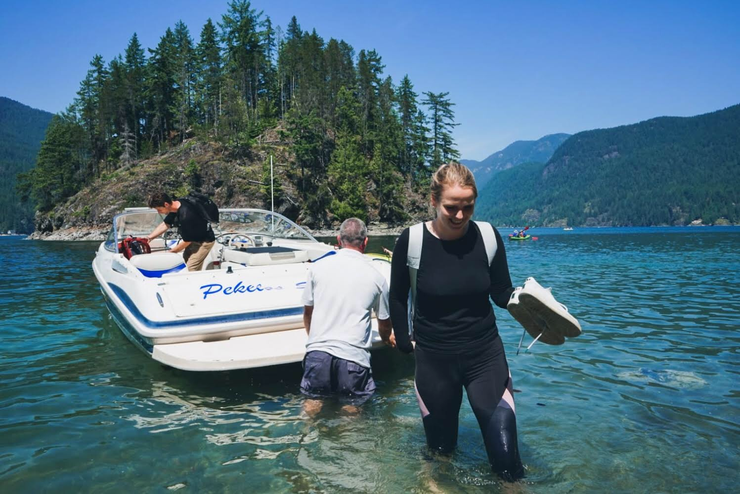Have Indian Arm Boat Charters taxi you and your gear to Twin Islands, a free campground 5.5 km from Deep Cove.