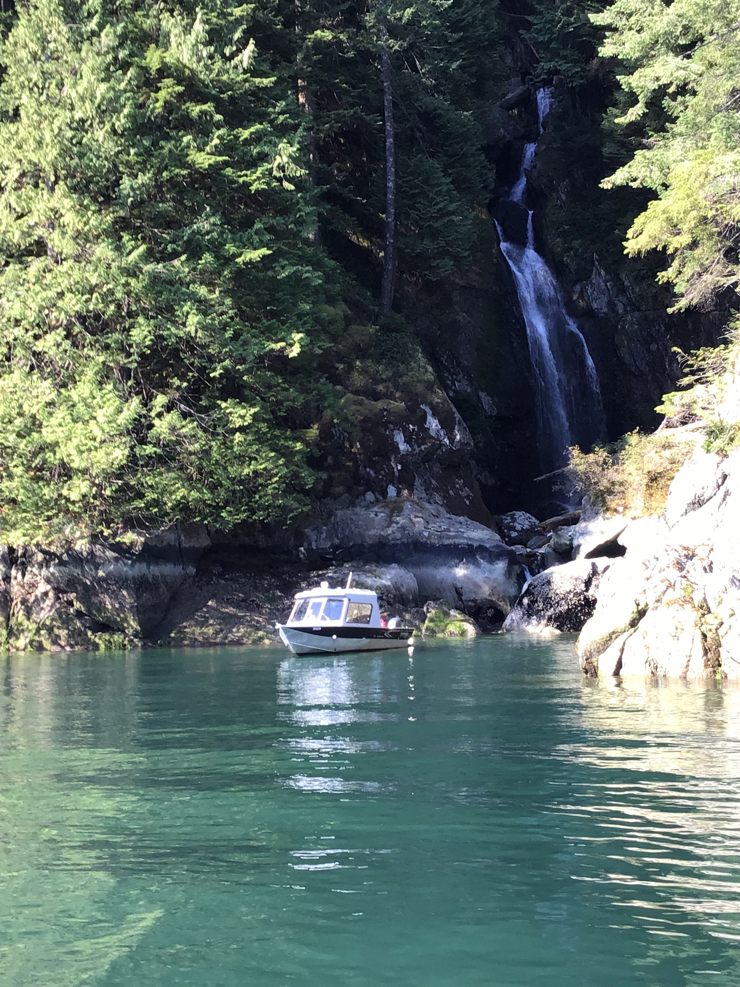 Have Indian Arm Boat Charters taxi you and your gear to Granite Falls, a free campground 12km from Deep Cove on westshore of Indian Arm.