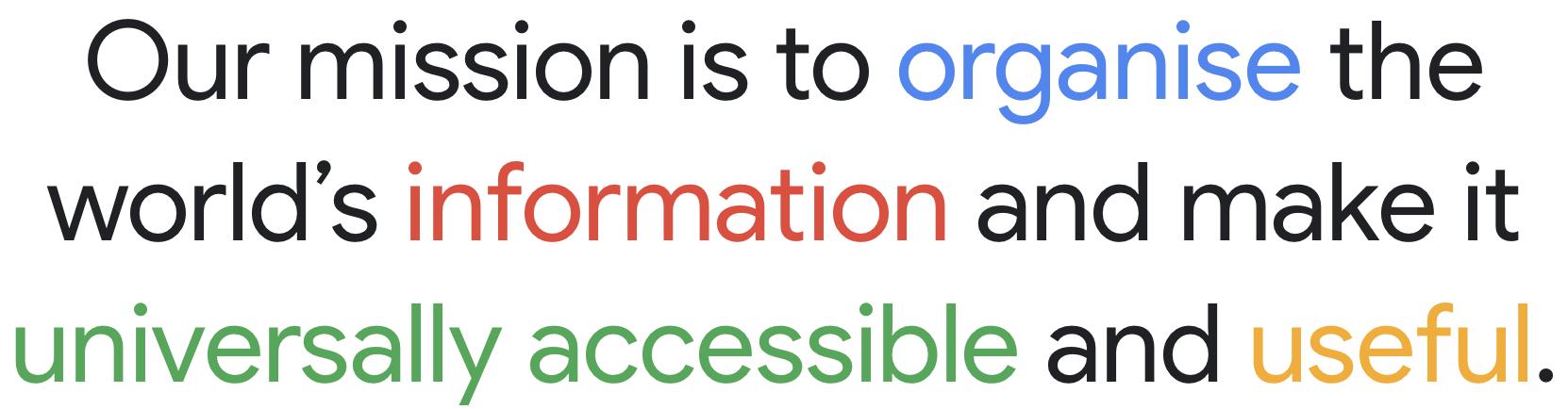 Google's brand mission