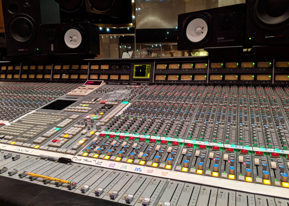 SSL 4000G at Henson Studio D