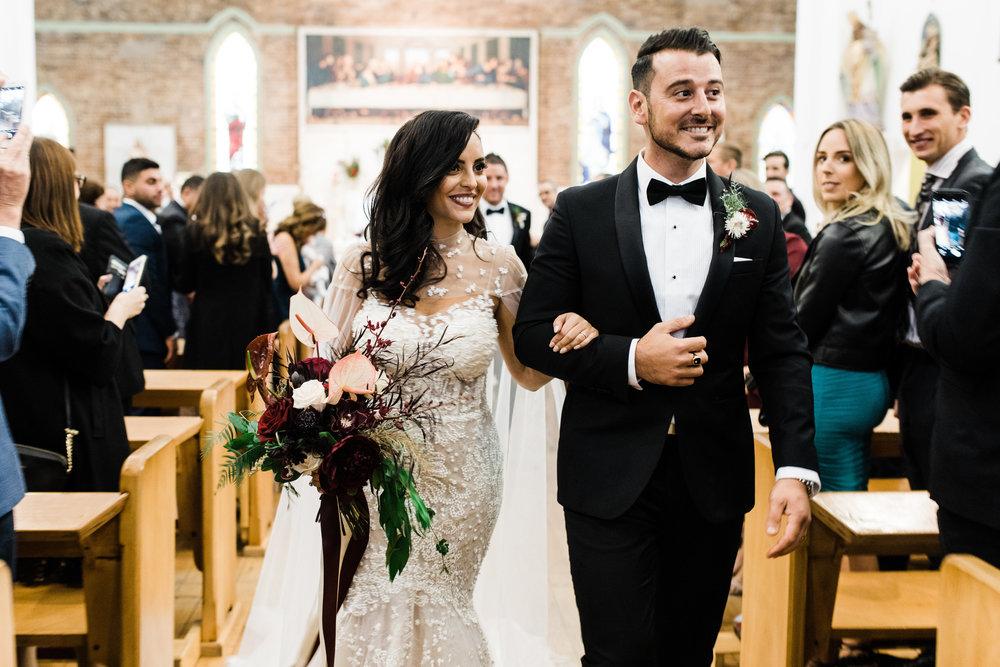 ceremony wedding carla steve sydney st fiacres leichhardt