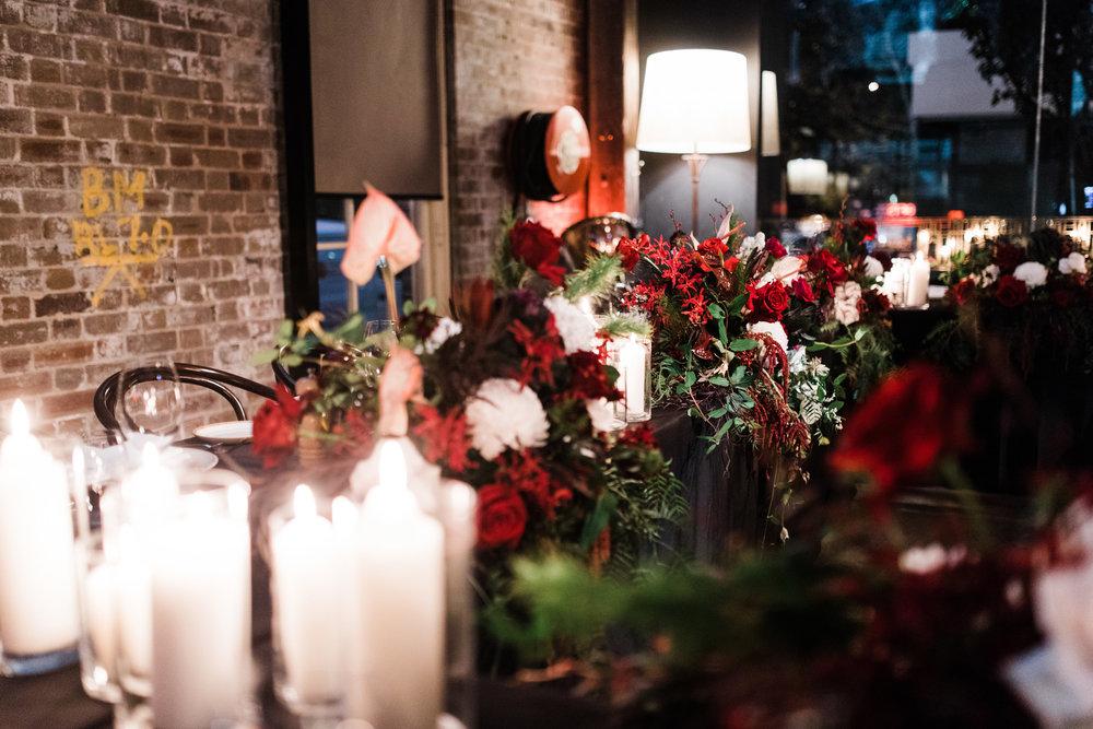 bar m machiavelli sydney wedding venue reception flowers