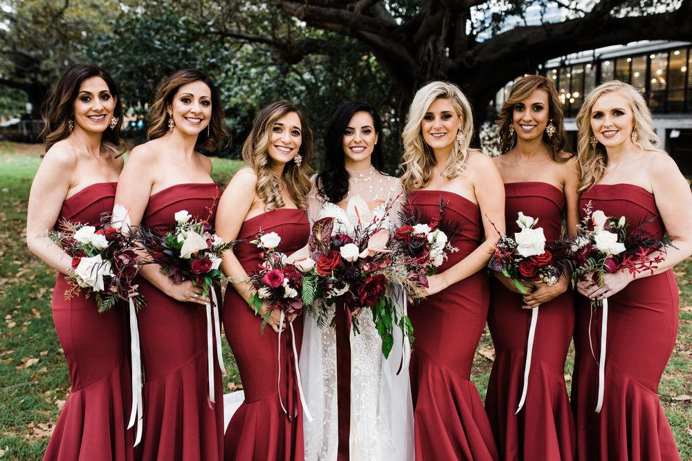 sydney bridal flowers wedding bridesmaids