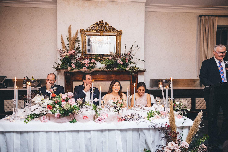 gunners barracks sydney wedding reception bridal table