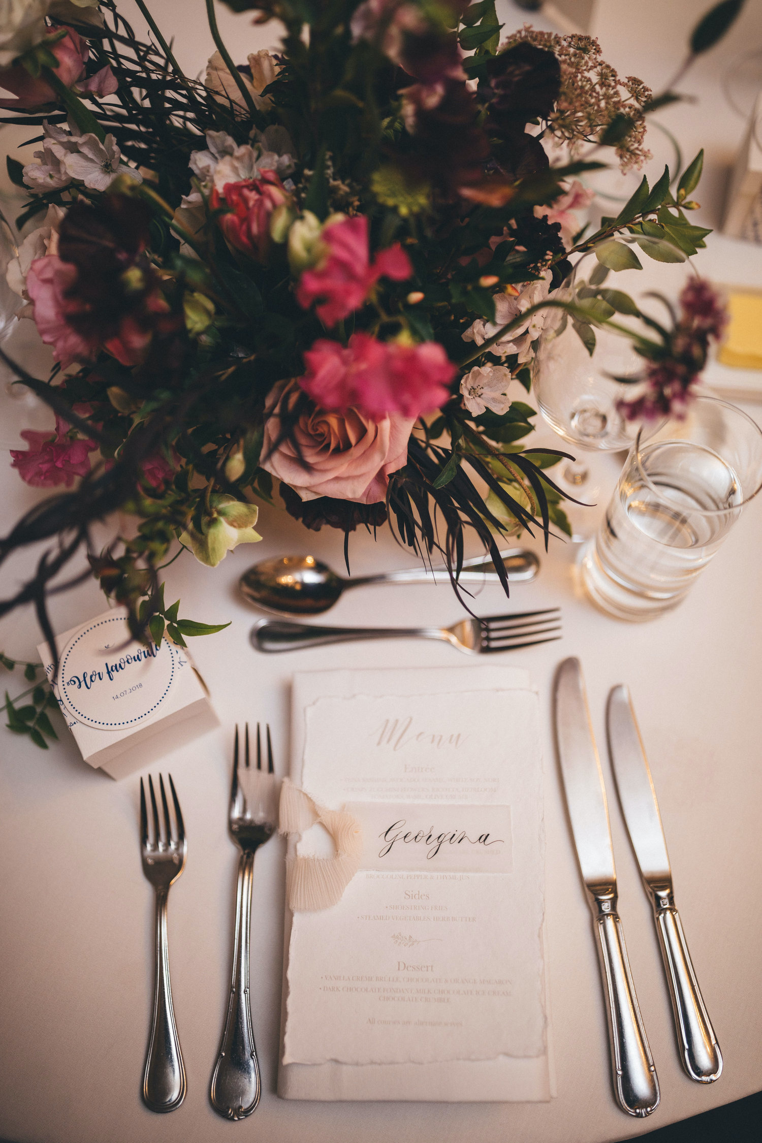gunners barracks sydney wedding reception styling table flowers