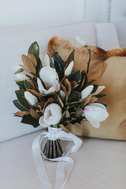 magnolia bridal bouquet sydney florist
