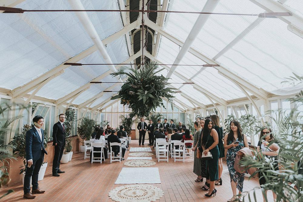 palm house wedding ceremony sydney botanic gardens styling planning