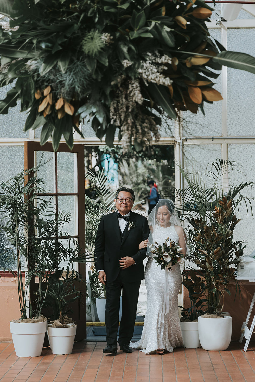 palm house wedding ceremony sydney botanic gardens jonathan david