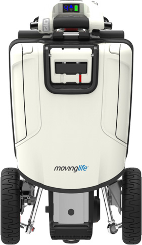 Front view of ATTO mobility scooter.