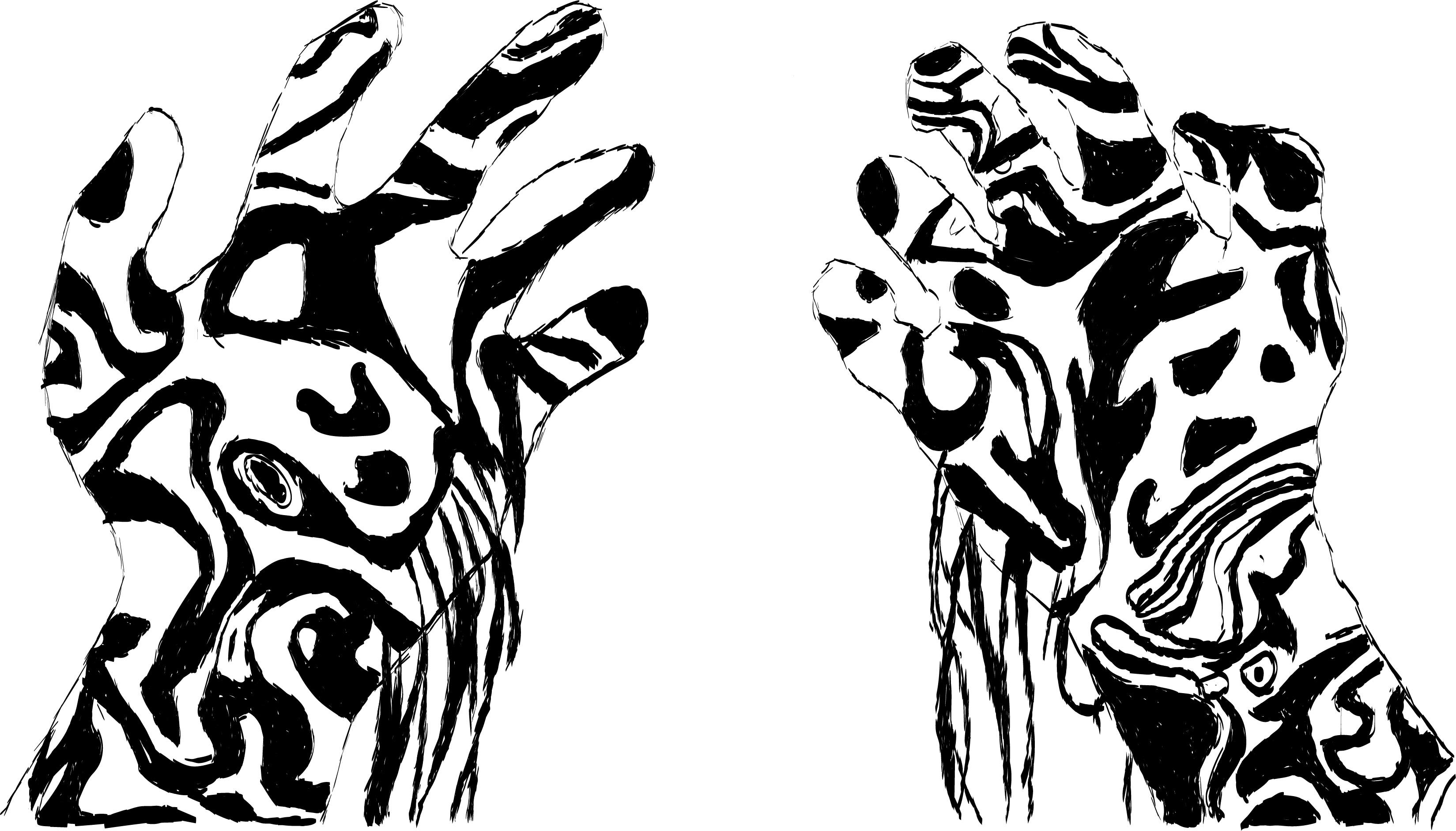 Distorted Hands spilling some kind of liquid