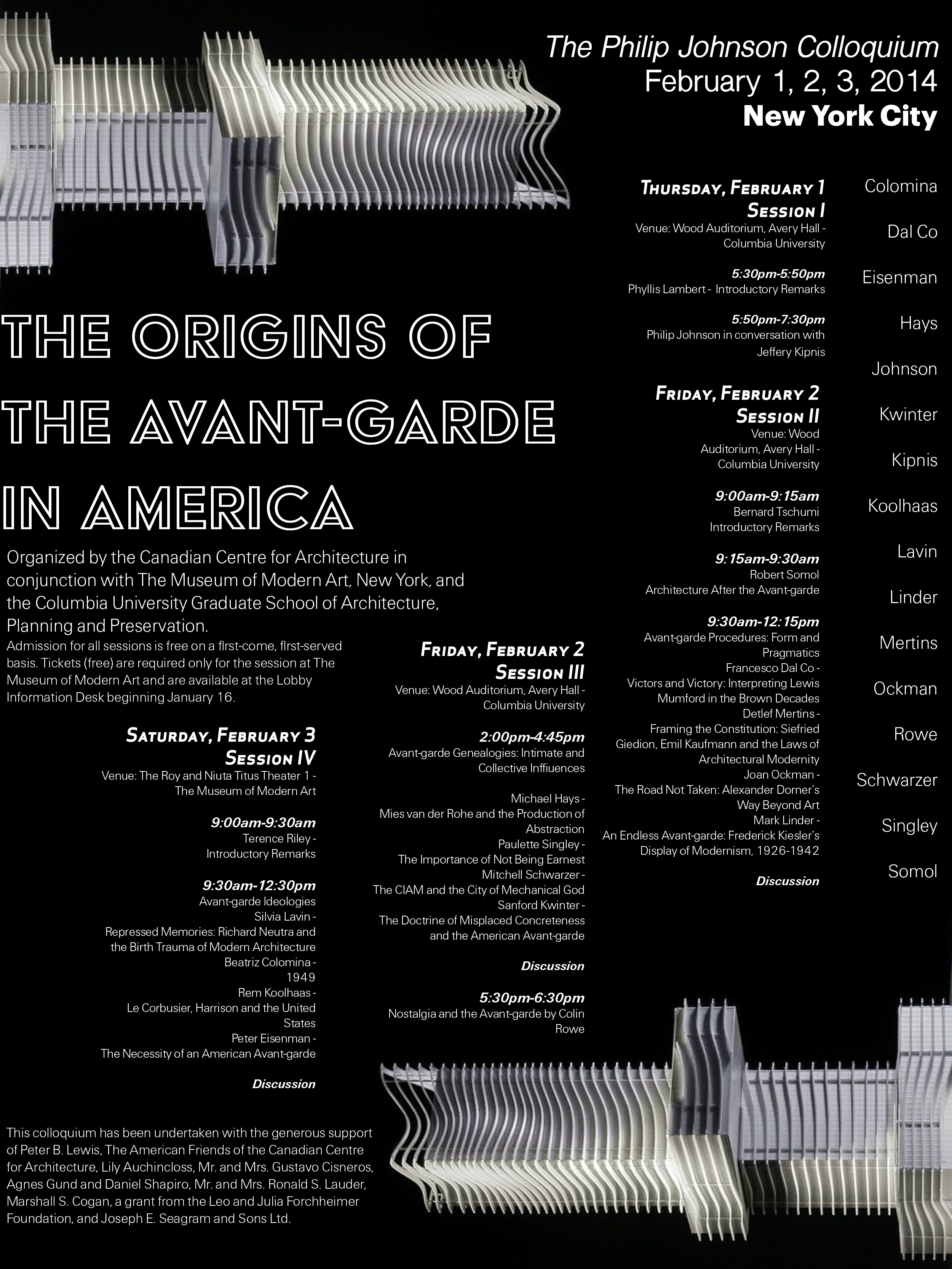 """Graphic Design Poster of an Exhibit called """"The Origins of Avant Garde in America"""""""