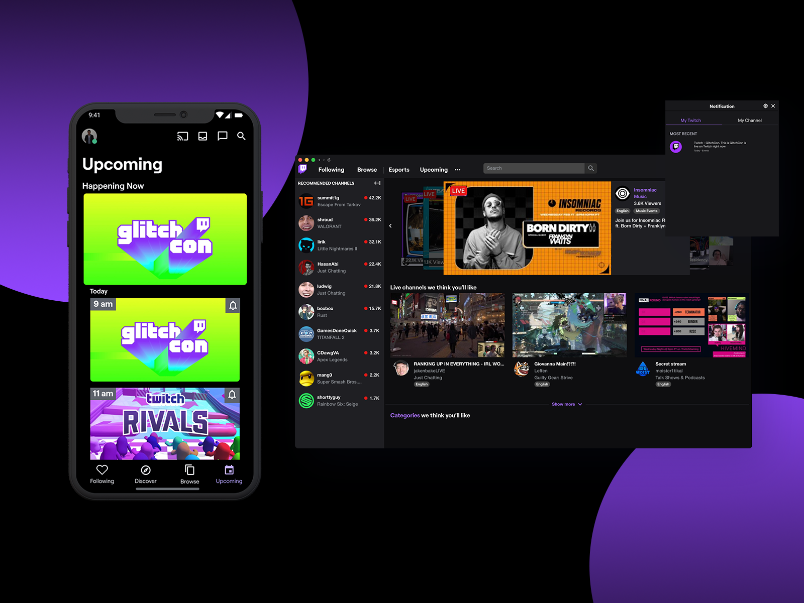 Hero Image to visit the Twitch Events case study.