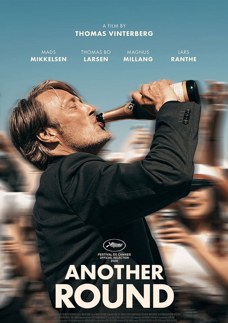 Movie poster for Thomas Vinterberg's film Another Round.