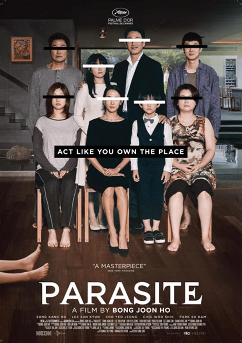 Movie Poster for Bong Joon-ho's film Parasite.