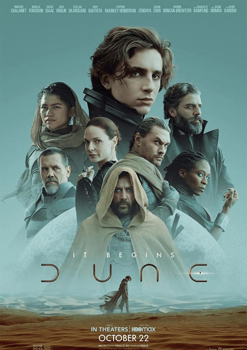 Movie Poster for the Denis Villeneuve film Dune.