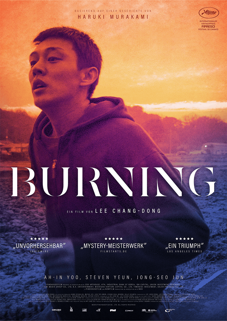 Movie Poster for the Lee Chang-dong film Burning.