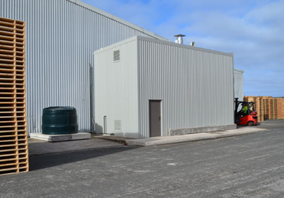 New Kiln Facility installed at Thomas Armstrong (Timber) Ltd's factory in Flimby Cumbria