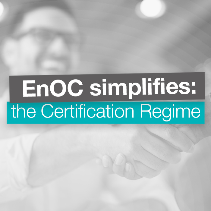 EnOC Simplifies: the Certification Regime