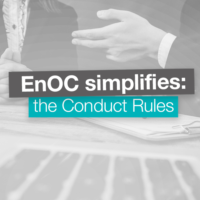 EnOC Simplifies: the Conduct Rules