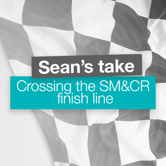 Crossing the SM&CR Finish Line