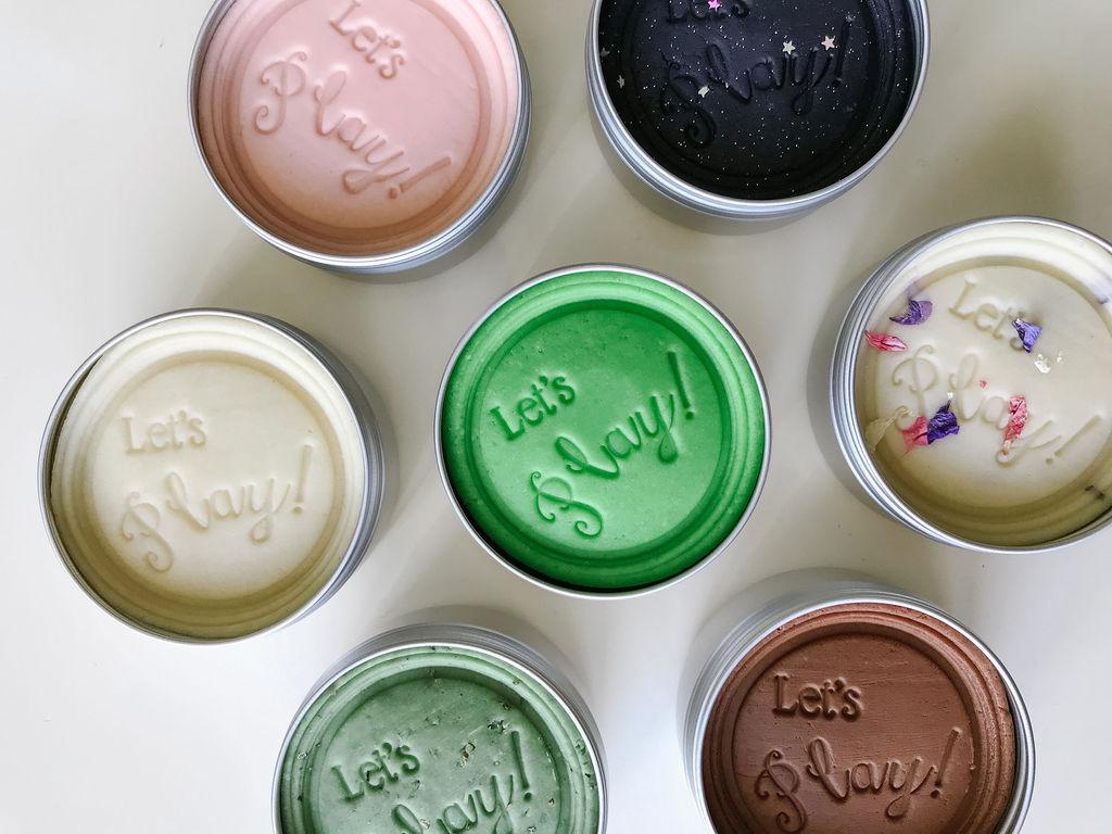 Party Favour Sensory Dough Tins