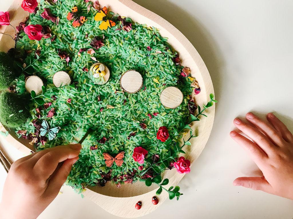 Garden Sensory Rice