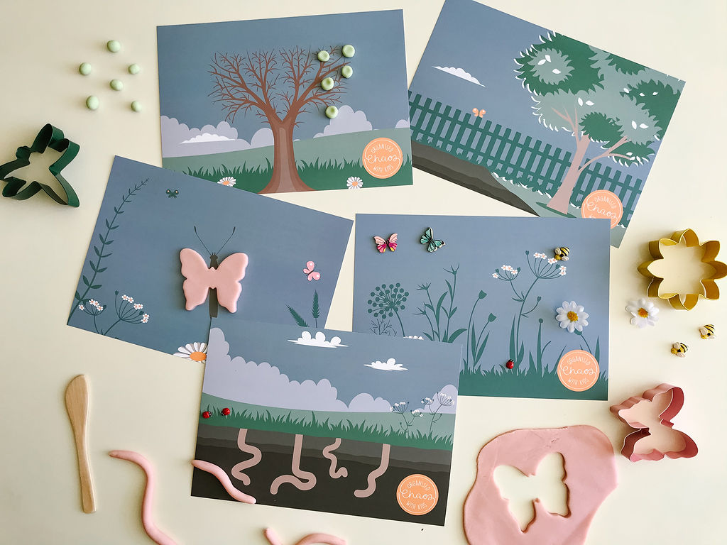 Garden Play Dough Mats (A4)