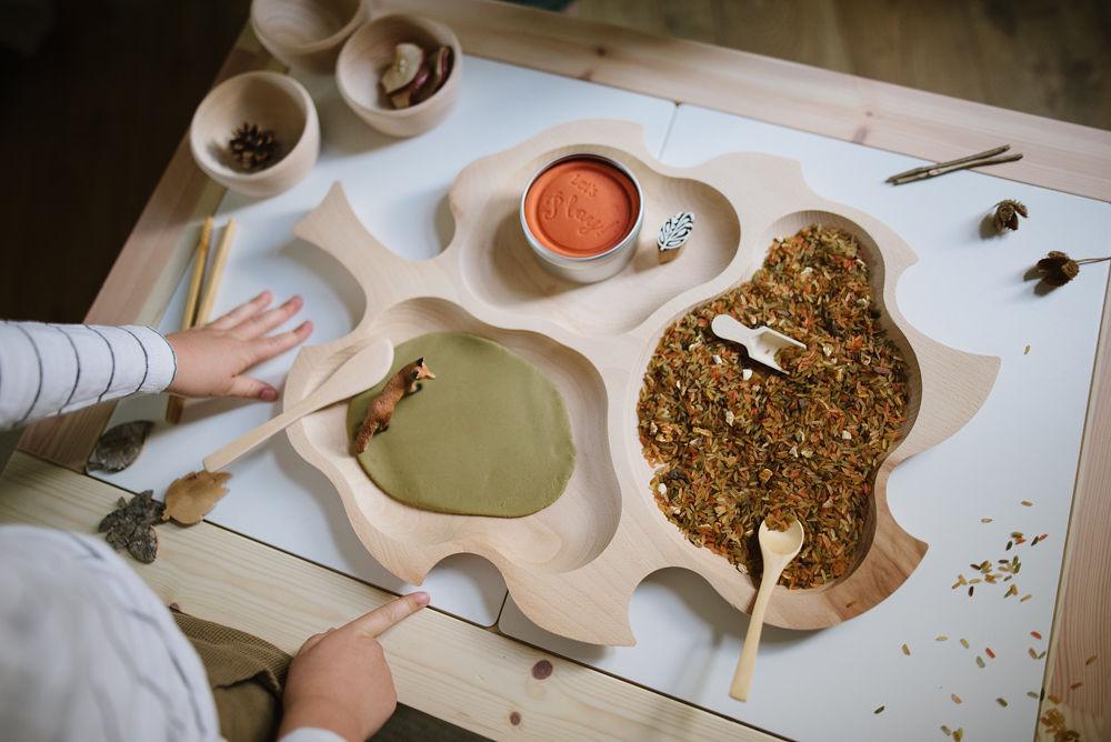 Large Wooden Leaf Plate