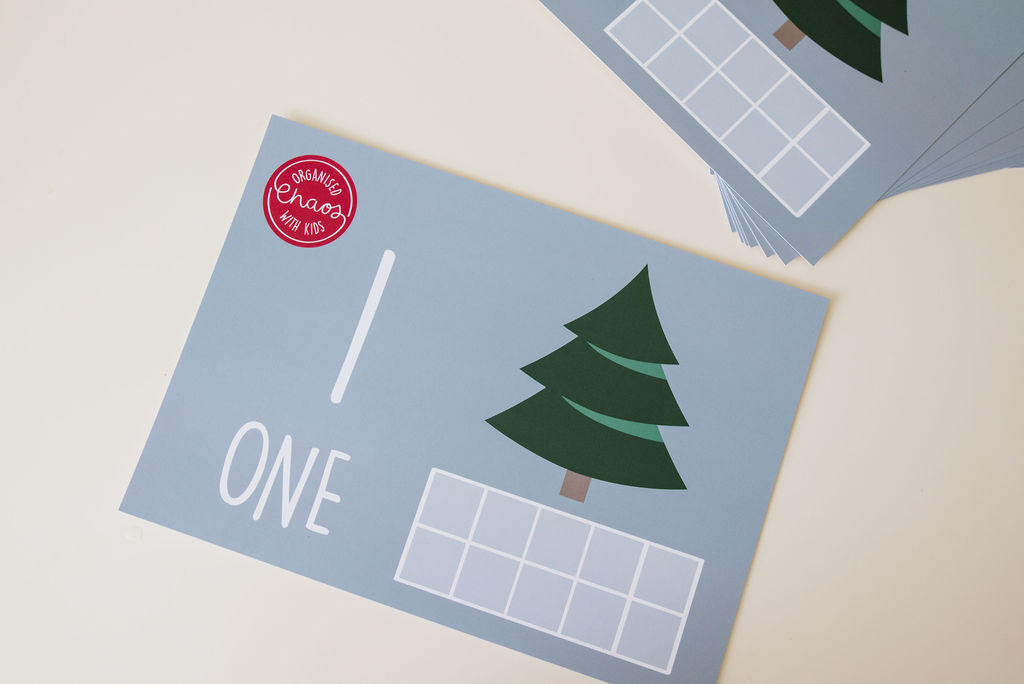 Christmas Counting Play Dough Mats (A4)
