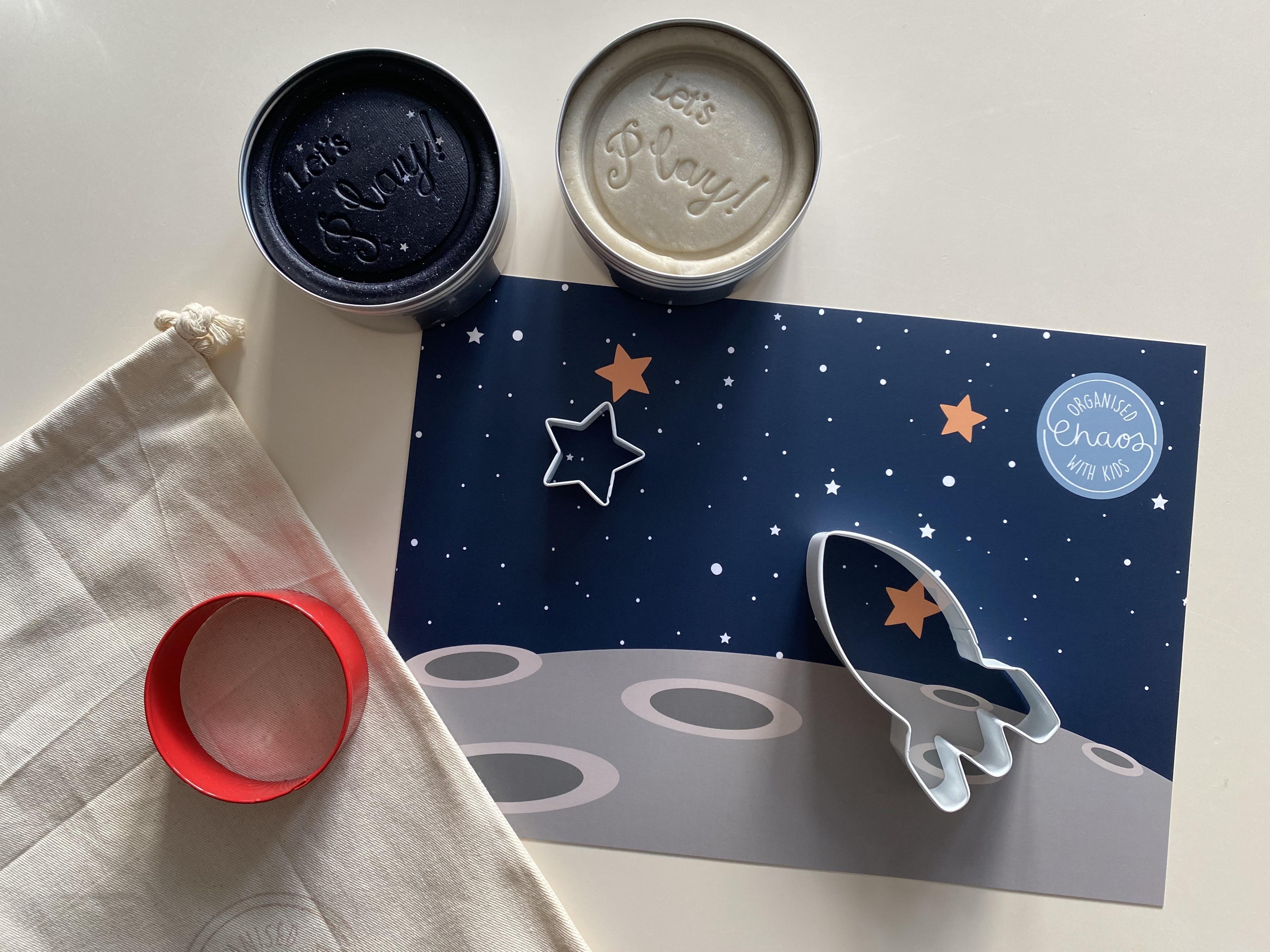 Space Play Dough Mats (A4)