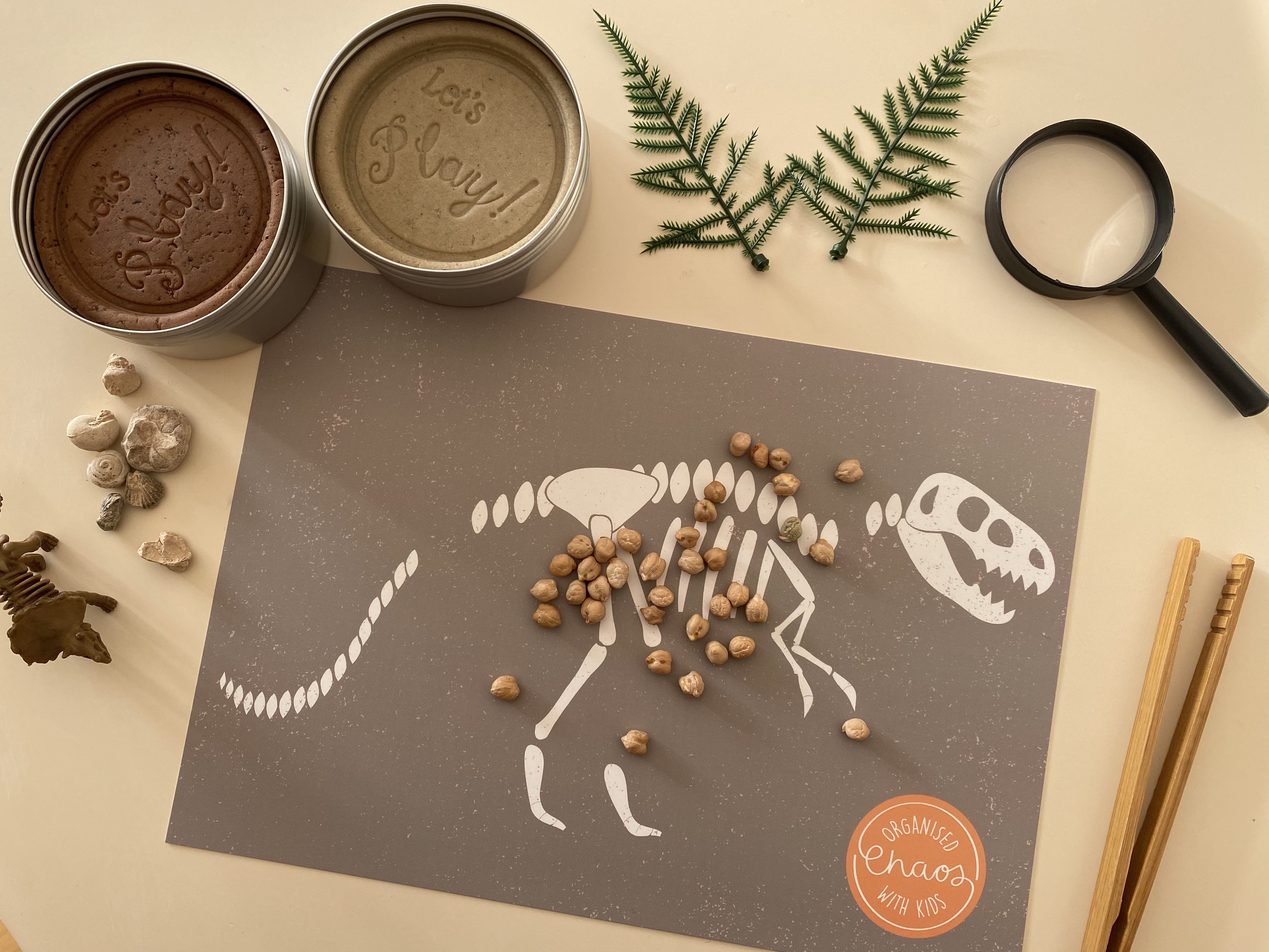 Dinosaur Play Dough Mats (A4)