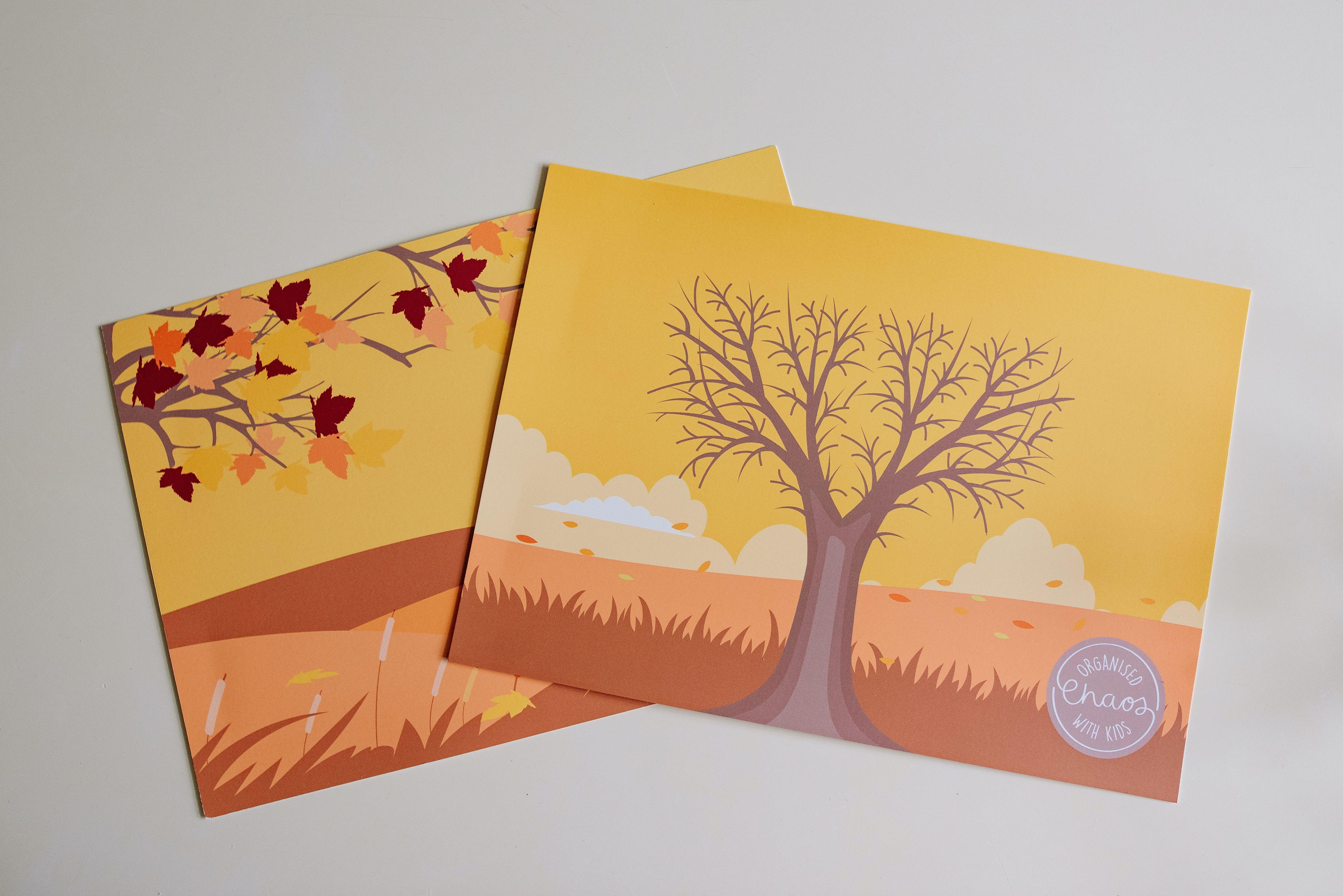 Autumn Play Dough Mats (A4)