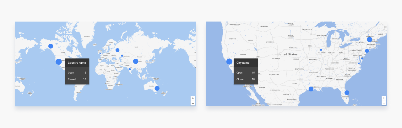 Custom Google maps with clusters