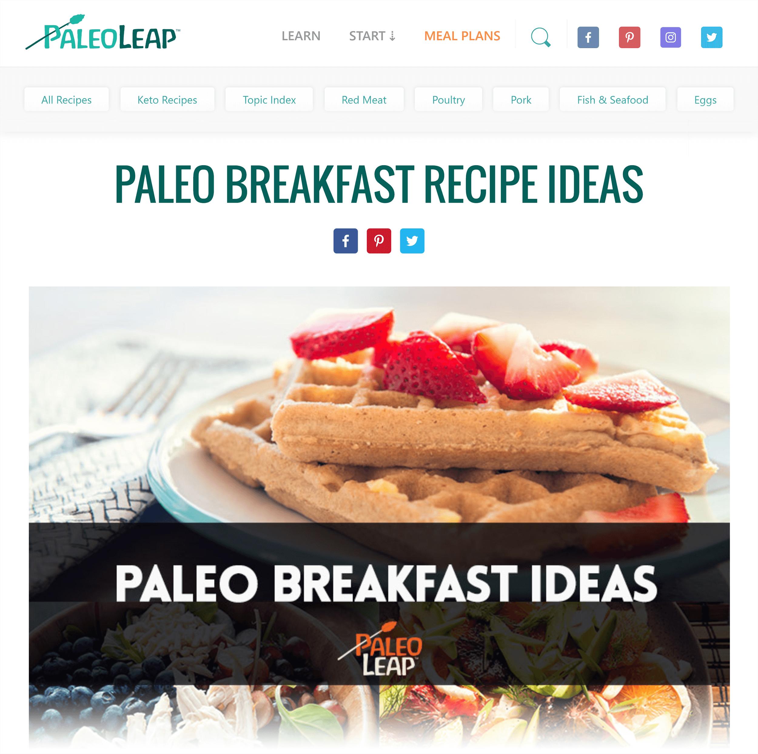 PaleoLeap – Paleo breakfast ideas post