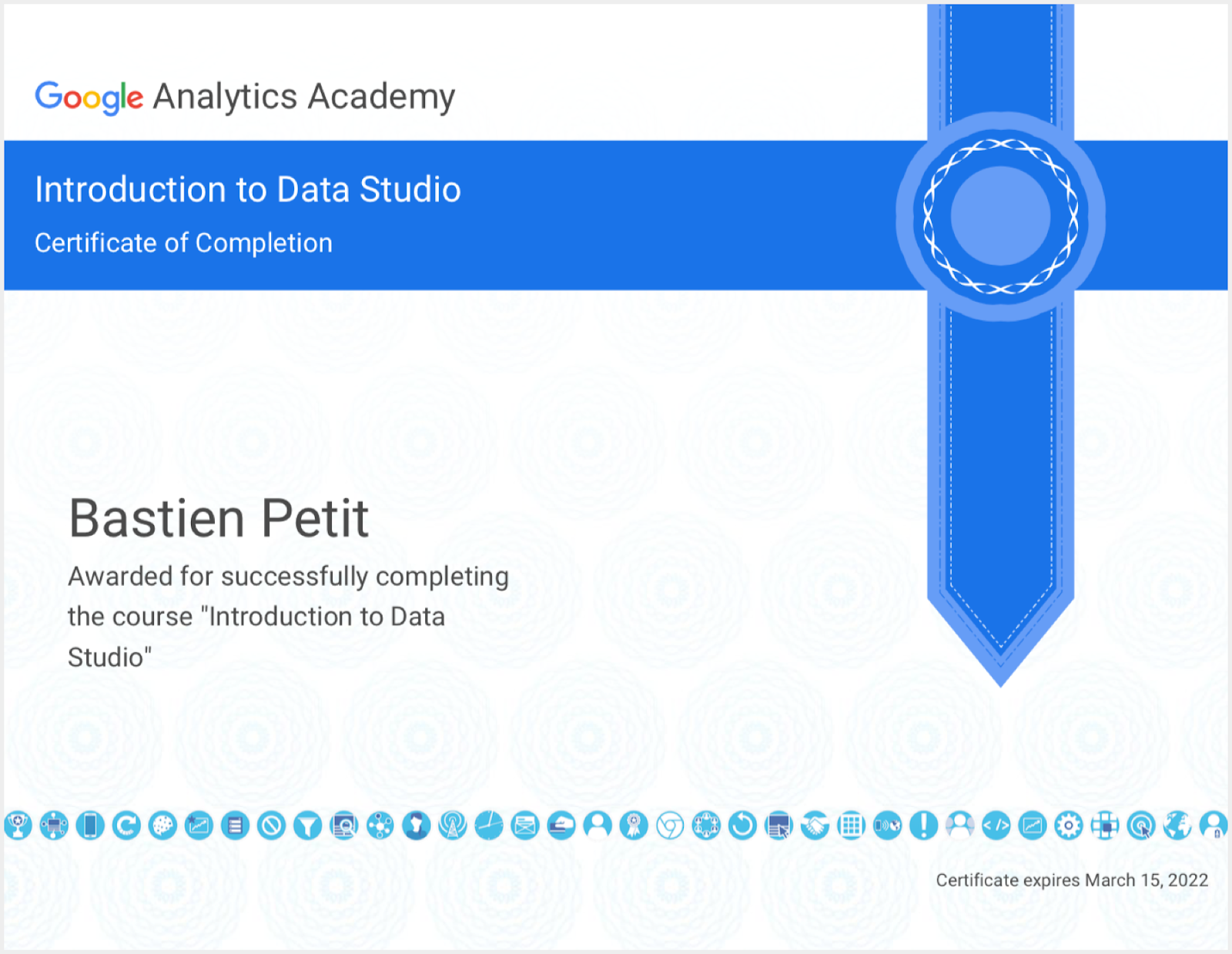 google analytics data studio certificate