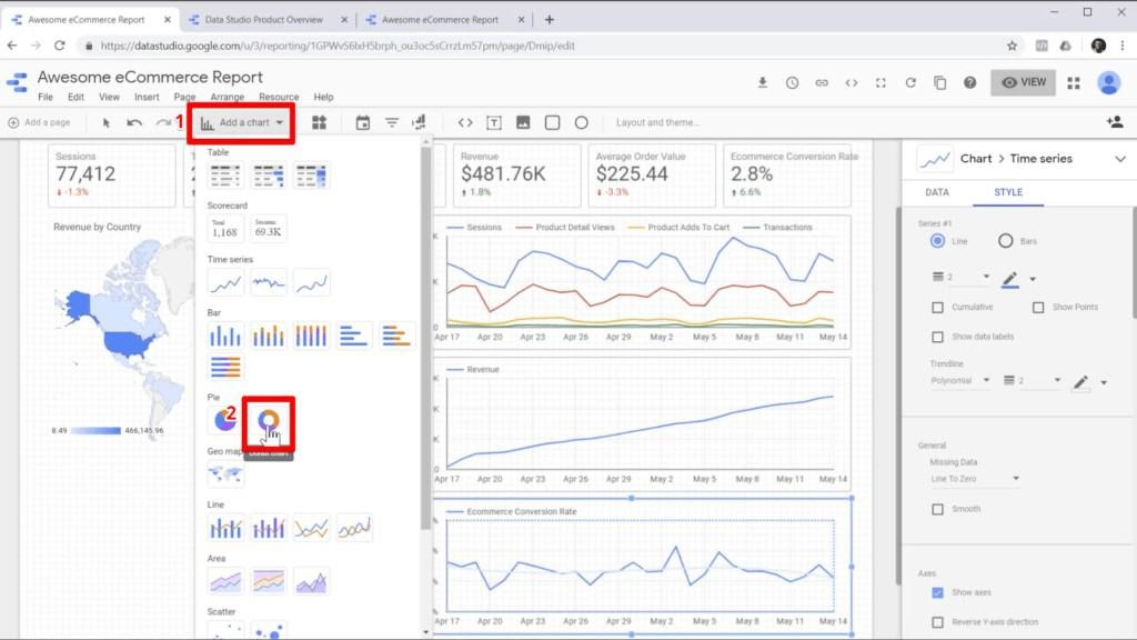 Getting Started Google Data Studio Tutorial 2020