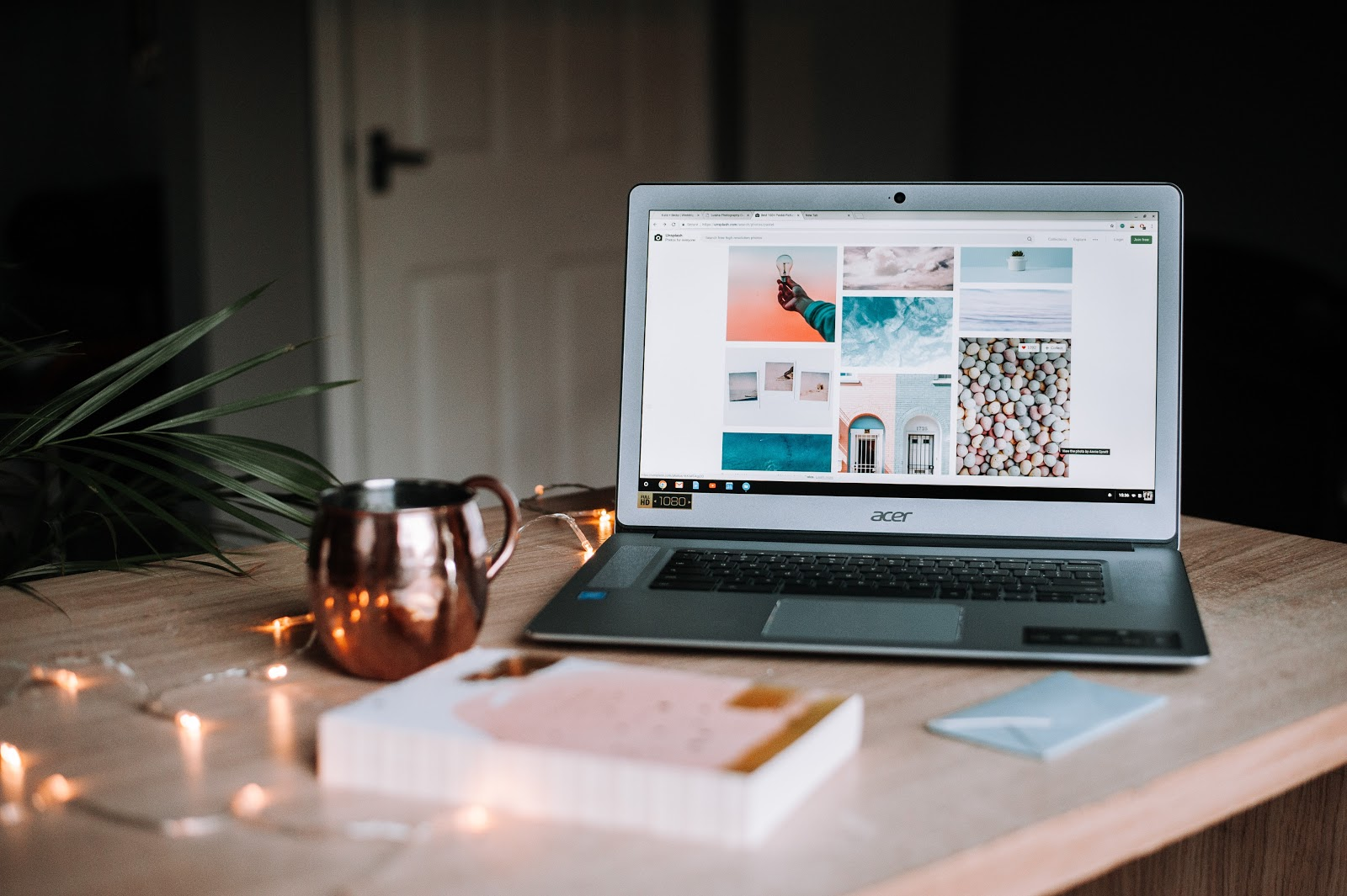 laptop on desk coffee mug brands look for in influencers