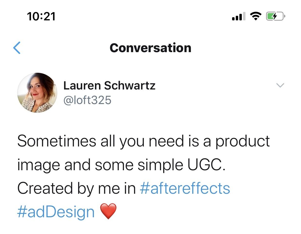 lauren schwartz tweet user generated content make money on instagram
