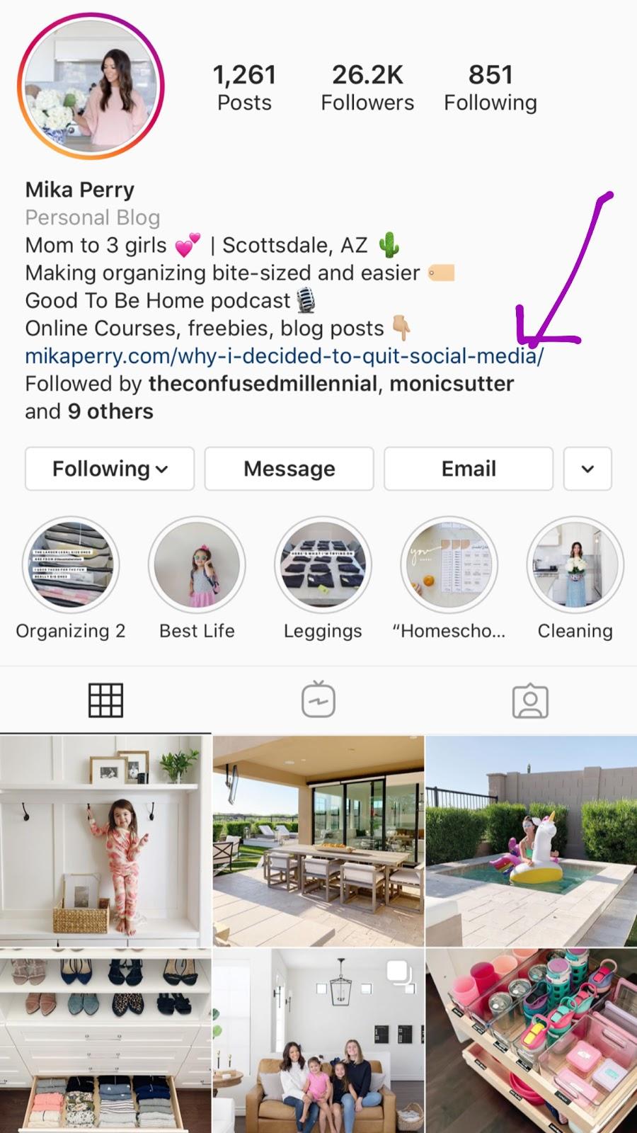 mika perry instagram bio link optimize your instagram bio