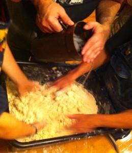 Mixing pie dough