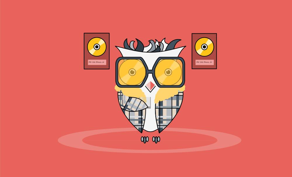 wijb.design portfolio gallery - owl illustration