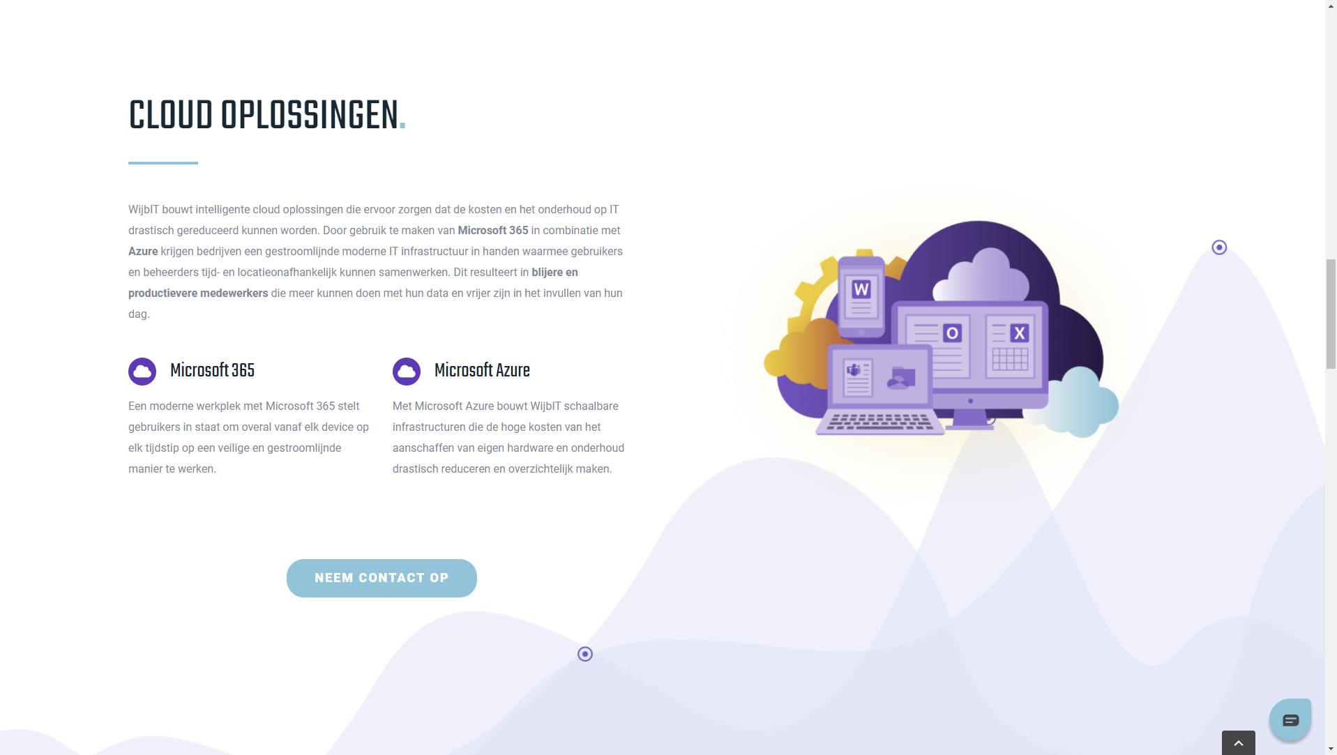 wijb.design portfolio gallery - clouid hero