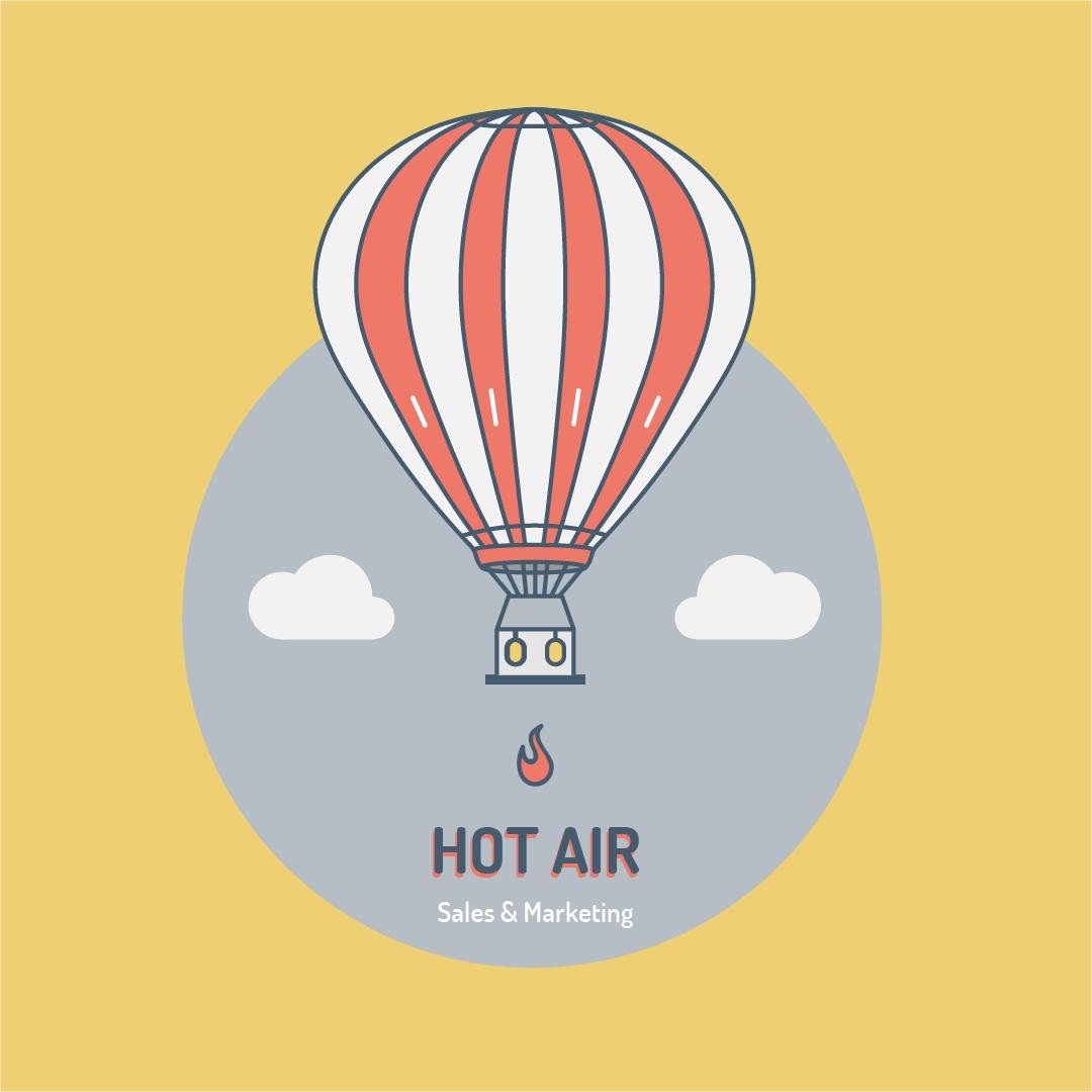 wijb.design portfolio gallery - hot air balloon illustration funny