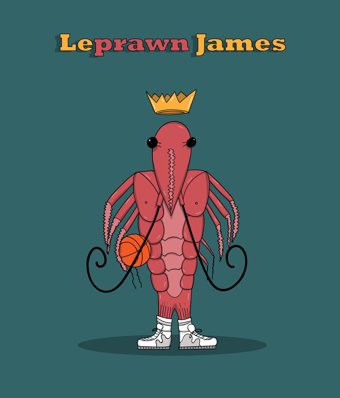 wijb.design portfolio gallery - lebron james illustration funny