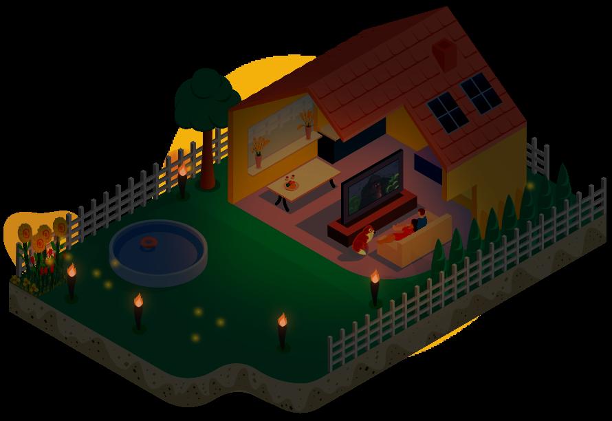 isometrische illustratie van huis hero wijb.design