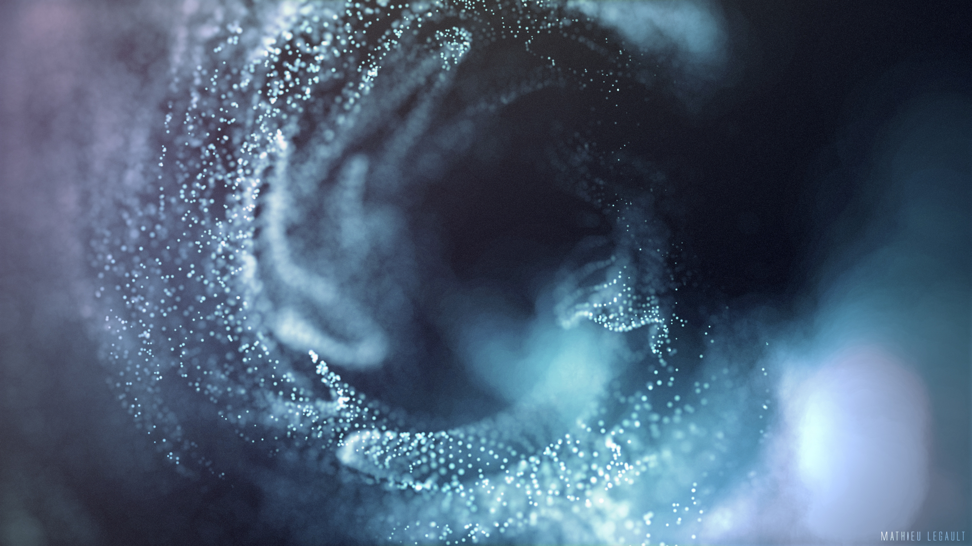 abstract particles cinema 4d after effects particular trapcode mathieu legault