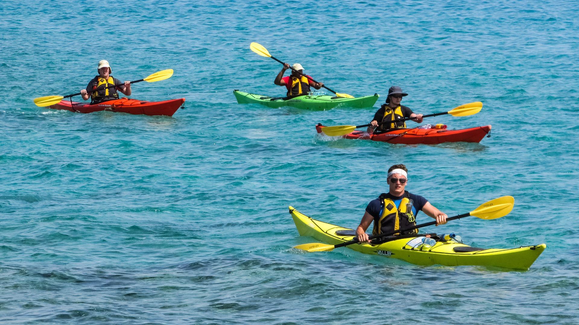 Canoe-kayak in the Bay of Plenty